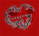 Timbres coeur Givenchy autocollant